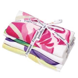 4 Handtücher mit Blumenfrauen-Design