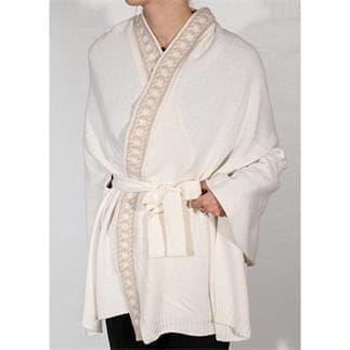 White Kimono Luxe Jacquard
