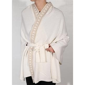 Kimono Luxe Jacquard Blanco