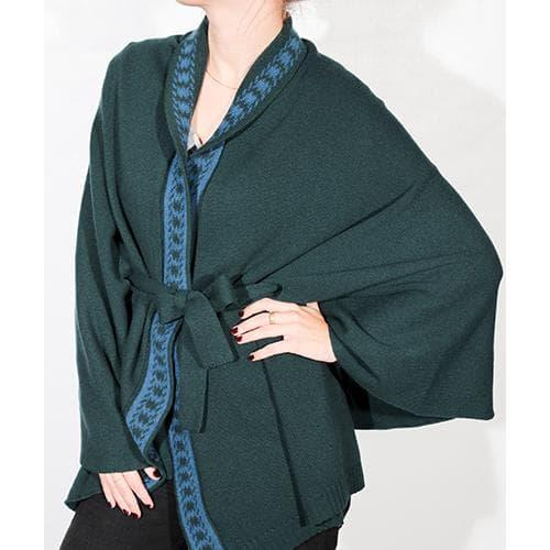 Green Kimono Luxe Jacquard