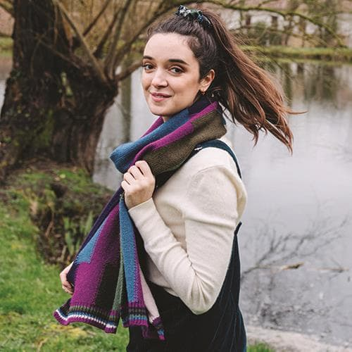 Ilona Purple Scarf