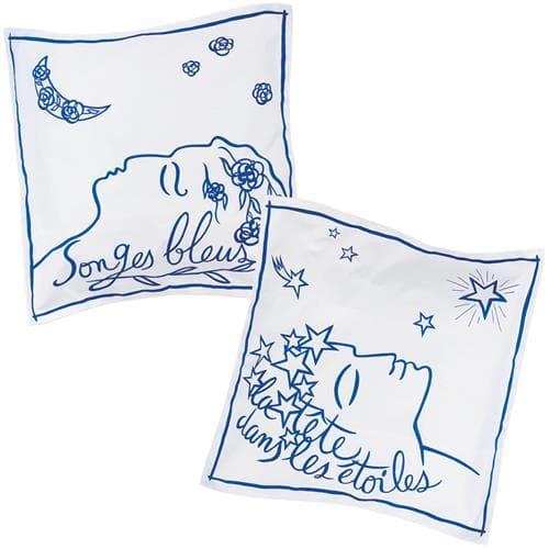 Set of 2 Songes étoiles pillowcases