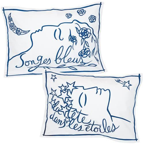 2 Taies d' oreiller Songes étoiles