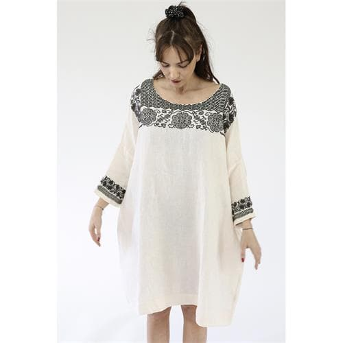 Kleid Mandala Ecru