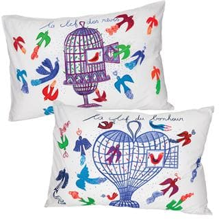 Set of 2 Clé du bonheur Pillowcovers