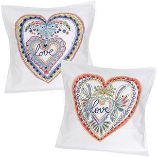 Set di 2 federe di cuscino Love love