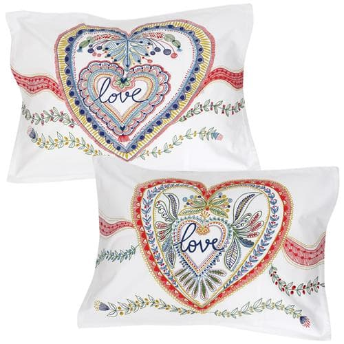 Set of 2 Love love Pillowcovers