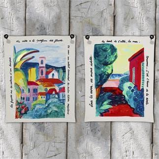 Set di 2 canovacci Poème