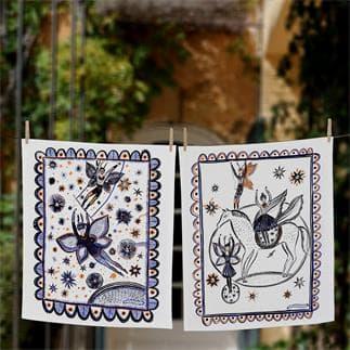Set of 2 Circus tea towel