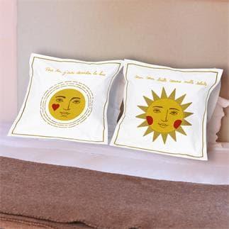 Set di 2 federe di cuscino Lune et Soleil